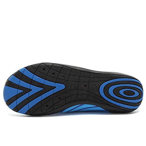 ANLUKE Wasser Schuhe Barfuß Yoga Socken Slip-On für Männer Frauen Kinder Blau