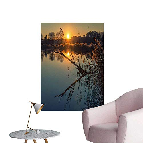 Wall Decals Sunset time in Winter Day Over Italian Lake Environmental Protection Vinyl,24