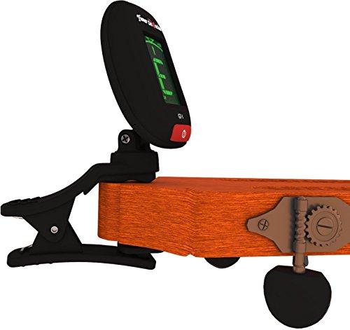 Tuner On Guitar Afinador de clip para guitarra, Afinar guitarras acústicas y eléctricas, bajos, ukeleles y violines, fácil de usar, preciso, rápido, ...