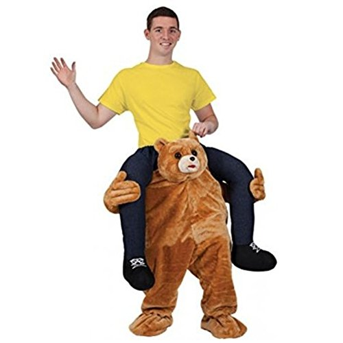 [Ride On Me Bear Stuffed Stag Mascot Carry Piggy Back Fancy Dress Costume V0] (Carry Me Ride On Costume)