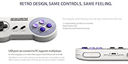 SNES30 Gamepad, YIKESHU Wireless Bluetooth Controller Classic Nintendo Gamepad Joystick for iOS (iCade), Mac OS, Android and Windows devices (SNES30)