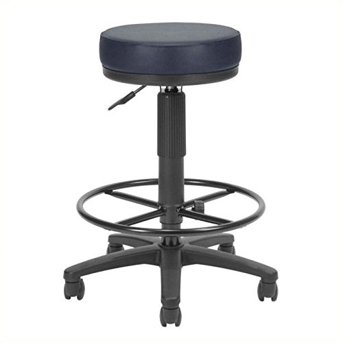 OFM Anti-Bacterial Utility Stool with Drafting Kit, Burgundy ()