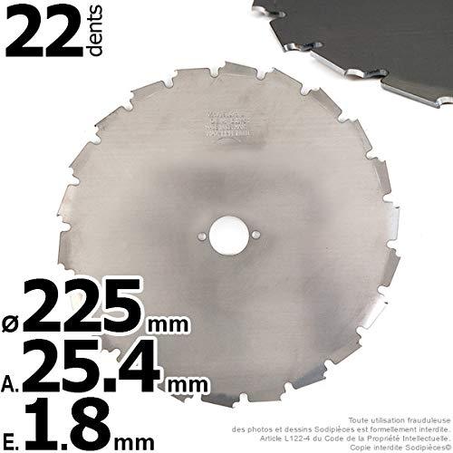 Greenstar 16669 - Hoja a- para desbrozadora 225 x 1,8 x 25,4 mm ...