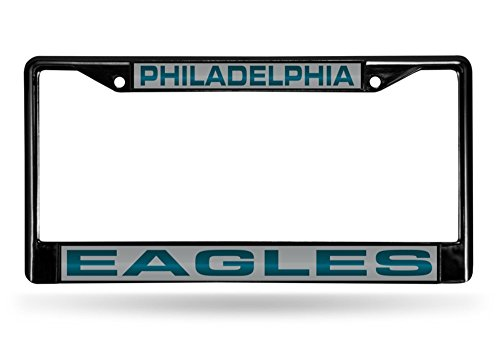 Philadelphia Eagles Laser License Plate (Philadelphia Eagles Laser Black License Plate Frame)