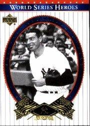Series Deck Upper World (2002 Upper Deck World Series Heroes Baseball Card #75 Joe DiMaggio Near Mint/Mint)
