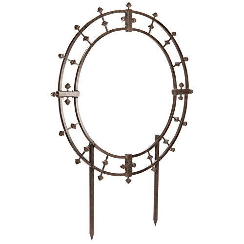 H Potter Garden Trellis Wrought Iron Round Metal Weather Resistant Yard Art ()