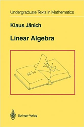 Linear algebra undergraduate texts in mathematics klaus jnich linear algebra undergraduate texts in mathematics klaus jnich 9780387941288 amazon books fandeluxe Image collections