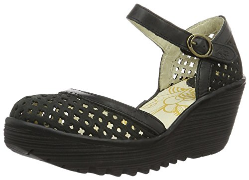 FLY London Damen Yadu732fly Wedge Schwarz (black/black 000)