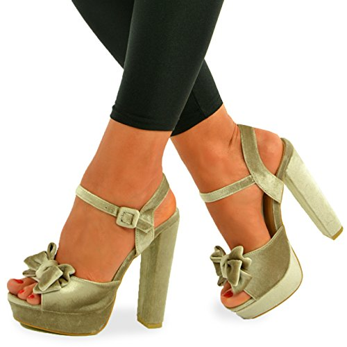 GetmorebeautyUpdate - Zapatos de tacón mujer , color beige, talla 37 1/3
