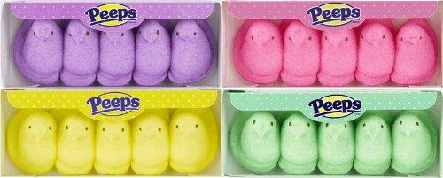 Easter Marshmallow Chicks Peeps Variety Pack 4ct. by Peeps Easter Marshmallow Chicks 4 Ct. Variety Pack