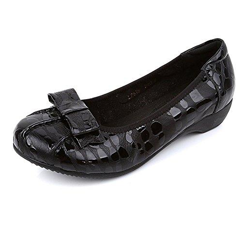 Zapatillas ZHANGRONG- Las Señoras ruedan para Arriba Las Bombas Plegables Plegables en Diversos Colores (Color : A, Tamaño : EU39/UK6.5/CN40) B