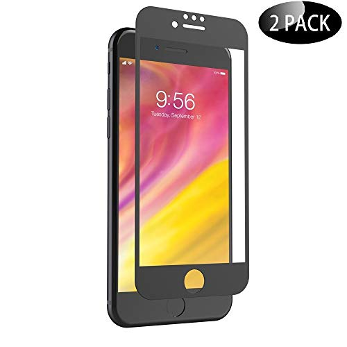 Phone Protector Black - Pueryin iPhone 7 8 6S 6 Screen Protector, Full Coverage Tempered Glass Screen Protector Film Edge to Edge Protection Compatible with iPhone 7, iPhone 8, iPhone 6S, iPhone 6, 4.7 Inch, 2 Pack Black