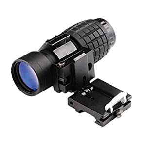 Telescope Magnifier,LtrottedJ 3X Magnifier Tactical Scope Sight ,With Flip To Side Rail Mount + Wrench