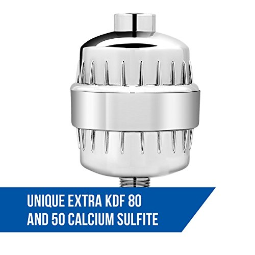 durable service SPECIAL DISCOUNT! AquaTip Universal Shower Filter - High Output Replaceable 3-Stage Filter Cartridge Filter- Excellent Chrome Manufacture