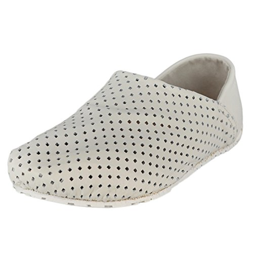 Shoes Womens Otz Size On Espadrille 36M Perforated White Leather Slip UwHqXHd