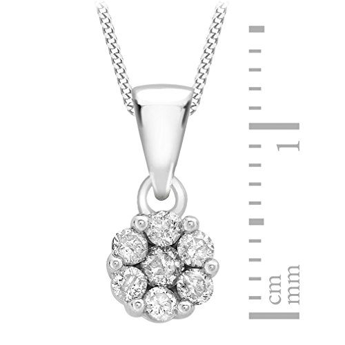 Carissima Gold - Collier avec pendentif - Or blanc 9 cts - Diamant 0.25 cts - 46 cm - 5.43.2994