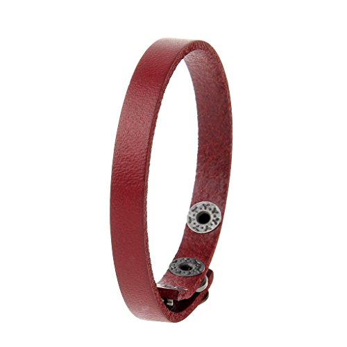 Red And Black Leather Bracelet - JOYMIAO Leather Bracelet Men Women Braided Cuff Bangle Infinity Charms Adjustable 3 Colors