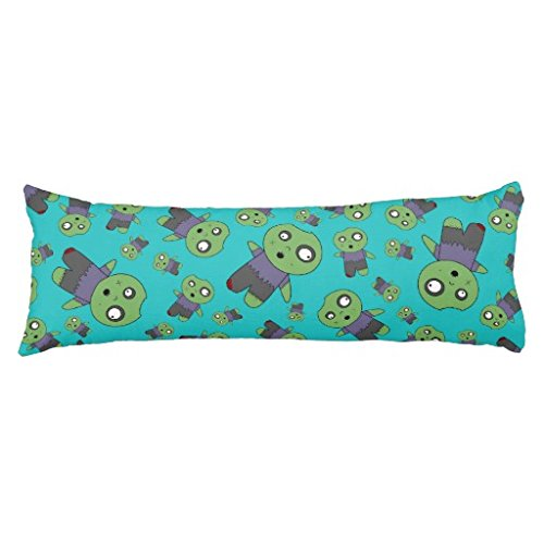 "Turquoise Zombies Body Pillow Cover 20""x54"""