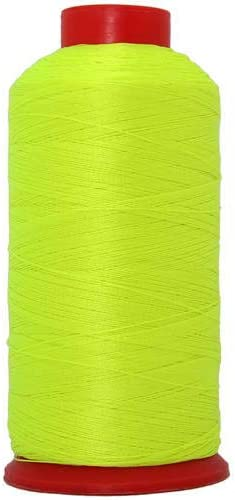 Neon Coral for Upholstery - #69 T70 Size 210D//3 Coated 6 Colors Available 1650 Yards and Other Heavy Fabric 1500m Leather Vinyl Threadart Neon Colors Heavy Duty Bonded Nylon Thread