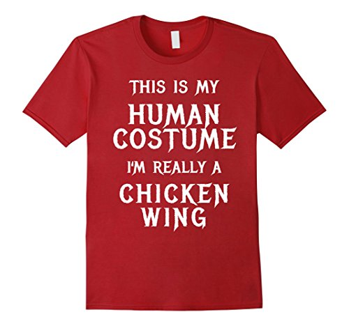 Mens I'm Really a Chicken Wing Halloween Shirt Easy Costume 3XL Cranberry
