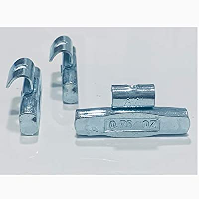 Gallardo Tire Products 25 Pieces Fe Clip ON Wheel Weights 0.75 (3/4) Oz. AW Type for Alloy Rims: Automotive
