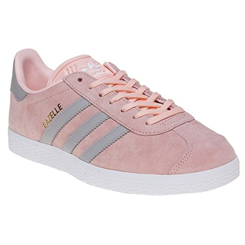 Adidas Womens Gazelle Haze Coral Clear Granite Suede Trainers 8.5 ...