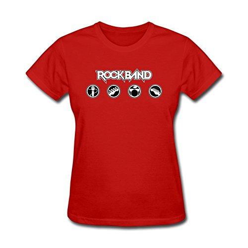 Tommery Women's Rock Band Design Short Sleeve Cotton T (Snl Halloween Ideas)