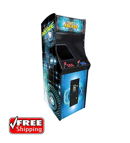 - Creative Arcades Full-Size Commercial Grade Cabinet Arcade Machine | 750 Classic Games | 2 Sanwa Joysticks | 2 Stools | 3-Year Warranty