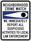 Neighborhood Crime Watch Eye Sign - 18x24