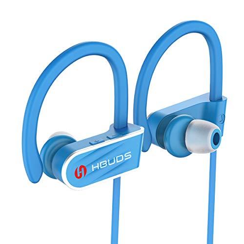Bluetooth Headphones, HBUDS H1 Bluetooth 4.1 Wireless Sport Earphones, Waterproof IPX7 Richer Bass HiFi Stereo in-Ear Earbuds w/Mic, 8-9 Hrs Playback Noise Cancelling Headsets ()