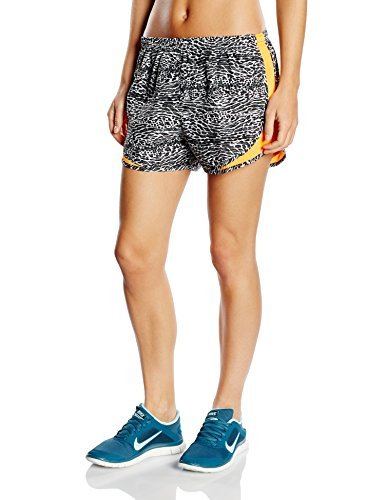 Nike Women's Pacer Lined Built-in-Brief Tempo Running Shorts-Black/White-Medium