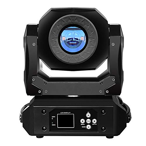 IMRELAX 90W LED Spot Moving Head Light, Stage Lighting with 3 Facet Prism Clear Rotation GOBO for DJ Club Party