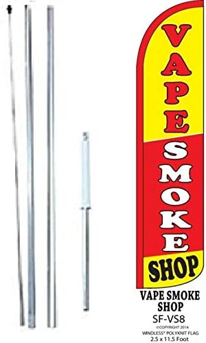 Party rentals Open for Business Welcome King Swooper Feather Flag Sign Kit with Pole and Ground Spike Pack of 3