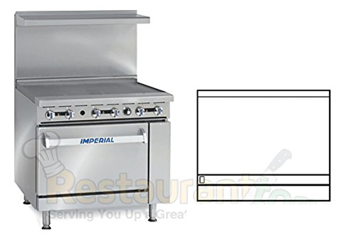 Imperial Commercial Restaurant Range 36'' Griddle 1 Standard Oven Propane Model Ir-G36 by Imperial