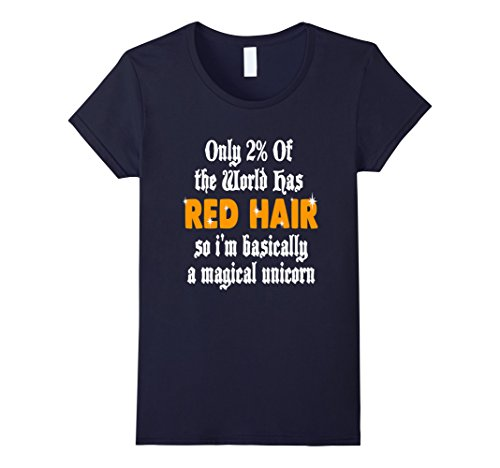 Womens FUNNY RED HAIR T-SHIRT Ginger Magical Unicorn Gift...