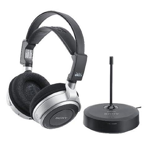 Sony MDR-RF800RK - Auriculares (Circumaural, 20-20000 Hz, 1%, Inalámbrico, 100m, Níquel-Hidruro metálico (NiMH)) Negro, Plata: Amazon.es: Electrónica