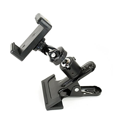 Livestream® Ball Head Clamping Phone Mount System: Includes Metal Clamp, Tripod Adapter, Screw Adapter & Smartphone Holder Clamp. Mount Your Phone to Anything, or Use with GoPro Camera.
