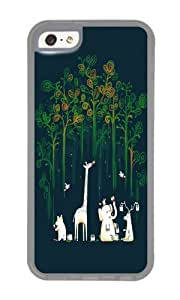 Apple Iphone 5C Case,WENJORS Uncommon Re paint the Forest Soft Case Protective Shell Cell Phone Cover For Apple Iphone 5C - TPU Transparent