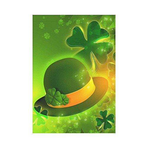 WAZZIT St.Patrick's Day Hat Polyester Garden Flag 28 x 40 in