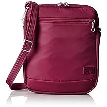 PacSafe Citysafe CS150 Anti-Theft Cross-Body Shoulder Bag, Cranberry