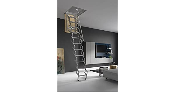 HASTA 150 Kg DE CARGA! Escalera plegable y escamoteable para hueco de 50x80 cm.: Amazon.es: Bricolaje y herramientas