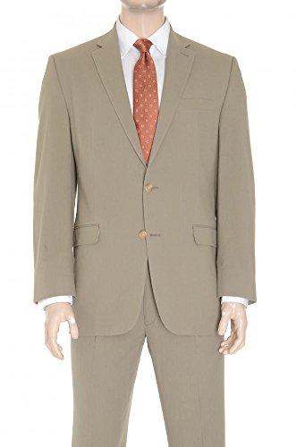 RALPH LAUREN Olive Seersucker Style Two Button Cotton Suit-40R ()