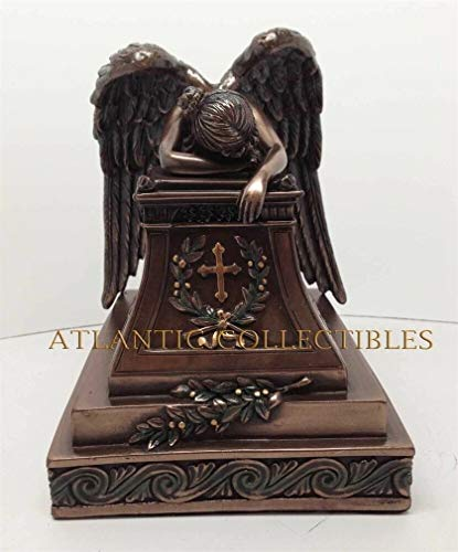 Ky & Co YK Christianity Figurine Collection Mourning Angel of Grief Statue Wetmore Cemetery
