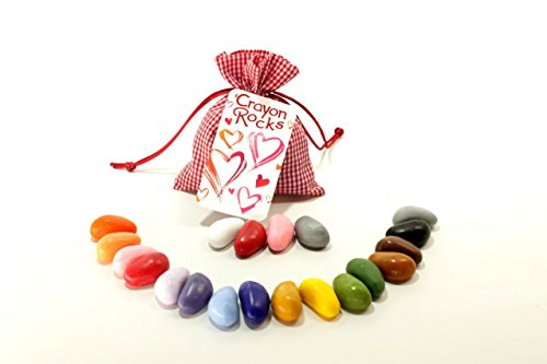 Crayon Rocks 20 Colors in Red Gingham Bag (Tissue Crayons)