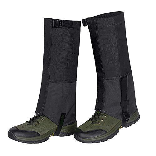 Unigear Leg Gaiters Waterproof Snow Boot Gaiters 600D Anti-Tear Oxford Fabric for Outdoor Hiking Walking Hunting Climbing Mountain (Black, Medium)