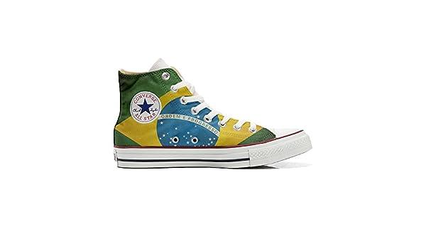 con la Bandera de Brasil Sneaker Personalizados Original Customized Producto Artesano Zapatos Personalizados