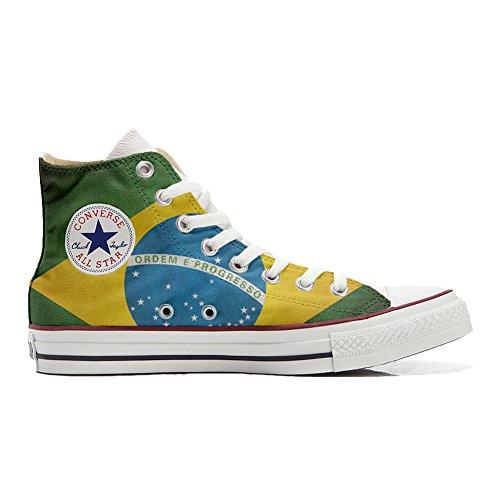 scarpe Unisex All Bandiera adulto Converse Artigianali Brasile Personalizzate Star Sneakers tSTqwYO