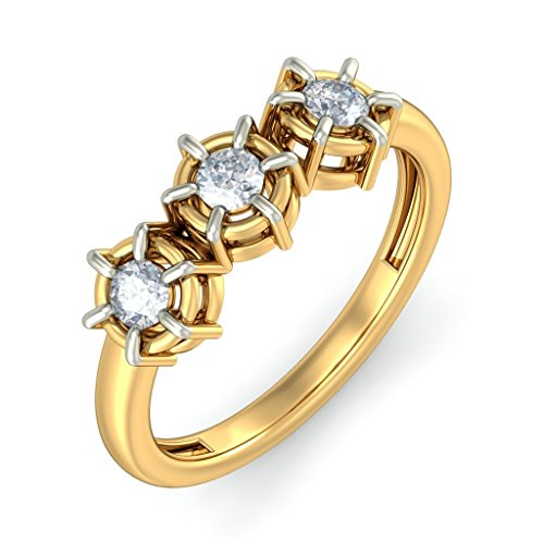 Or jaune 18 K, 0.25 CT TW Diamant Blanc (IJ | SI) en diamant