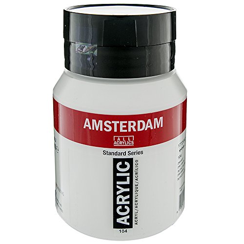 Royal Talens Amsterdam Standard Series Acrylic Color, 500ml Tube, Zinc White (17091042)
