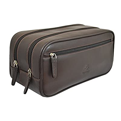 8acae68af6 70%OFF Visconti HT100 Leather Mens Supply Toiletry Bag Case   Dopp Kit   Travel